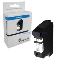 Inkt HP Zwart 45 Inktpatroon Inkt cartridge Inksave