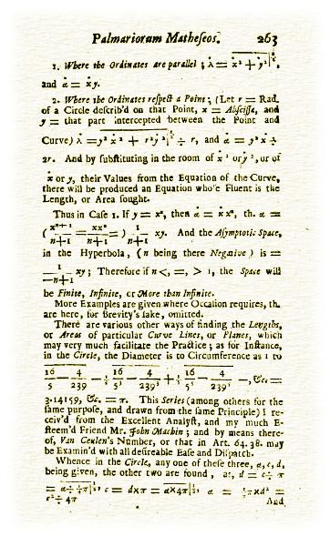 Mathematical treatise showing Pi