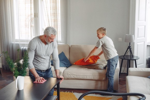 ménage en famille confinement