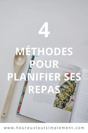 méthodes de planification de repas