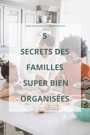 secrets des familles organisées
