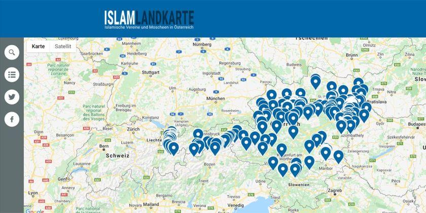 So sieht die neue Islam-Karte für Österreich aus.