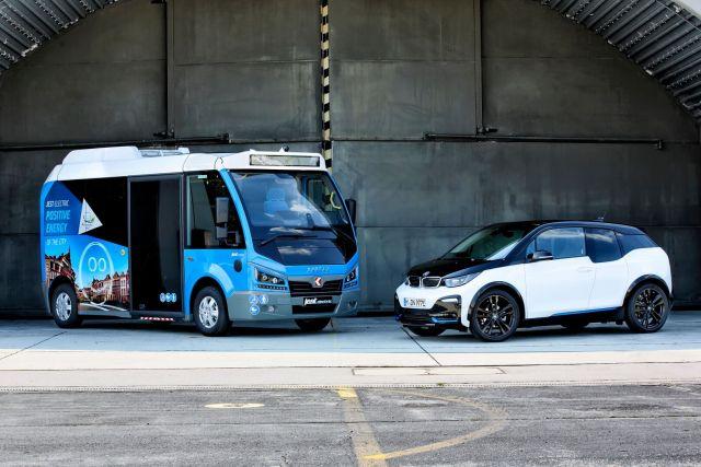 Электрический автобус Jest Electric и электромобиль BMW i3