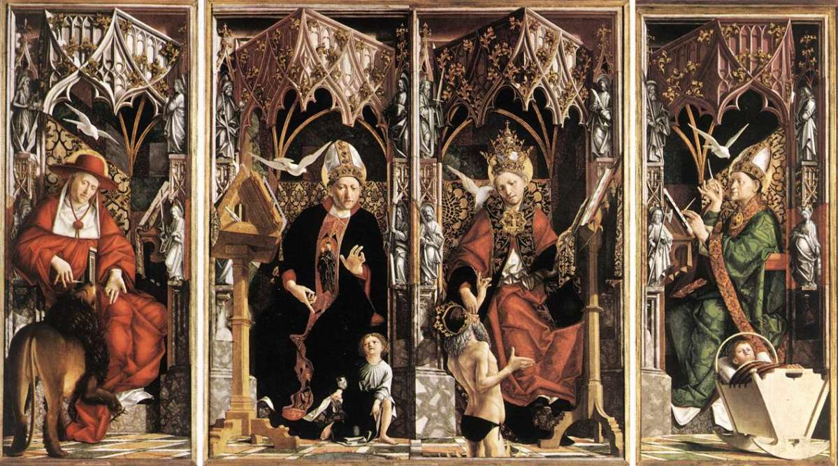 Altarpiece of the Church Fathers by Michael Pacher