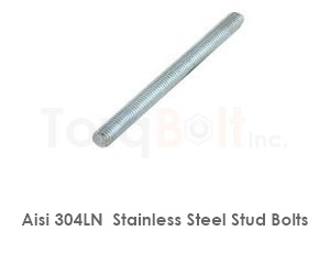 Aisi 304ln Stainless Steel Stud Bolts