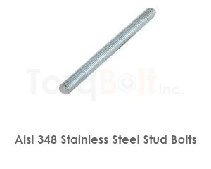 Aisi 348 Stainless Steel Stud Bolts