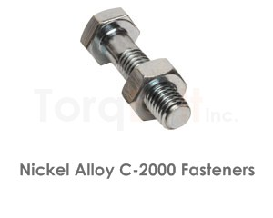 Hastelloy C-2000 Fasteners Heavy Hex Bolts Screws Nuts Washers