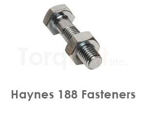 Haynes 188 Fasteners like Heavy Hex Bolts Screws Nuts Washers