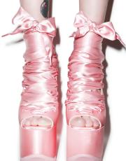 Y.R.U. x Dolls Kill Ballet Bae Satin Platforms