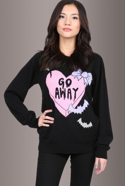 Too Fast Creepy Love Sweater