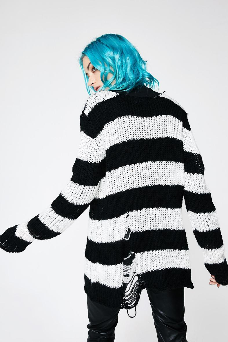 dd8f0cef493c Current Mood Icy Lost Cause Striped Sweater » Hex Libris