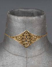 Regal Rose Verona Filigree Gold Plated Shield Choker
