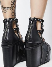 Demonia Dark Magic Vegan Wedges