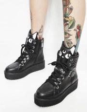 Killstar Keiko Kitty High Top Sneakers