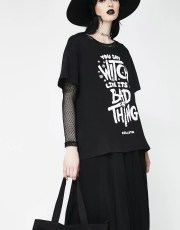Killstar Who's Bad Relaxed Top