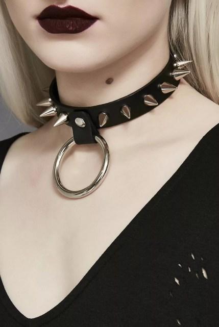 Love No More Silver Spike O Choker