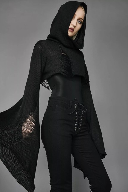 Widow Darkest Hour Crop Sweater