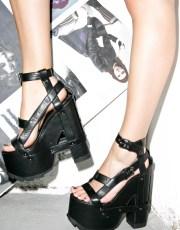Y.R.U. Midnight Nightcall Platform Heels