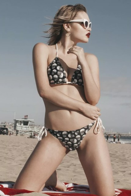 Unchained Two-Piece Skull Swimsuit