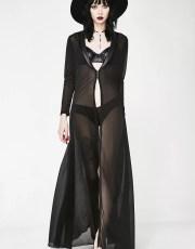 Sheer Long Robe and Panties Set