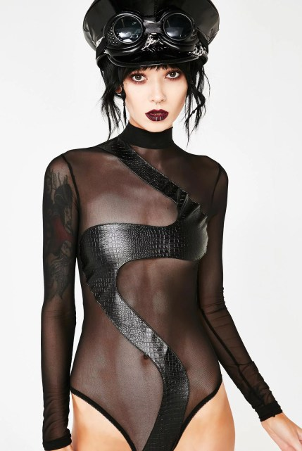 Burner Long Sleeve Festival Snake Bodysuit