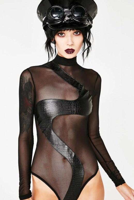 Burner Long Sleeve Festival Snake Bodysuit