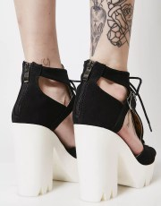 Cutout Lace-Up Platforms