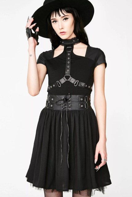 Killstar Midnight Muse Harness Dress