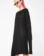 Matter of Black Linen Long Sleeve T-Shirt