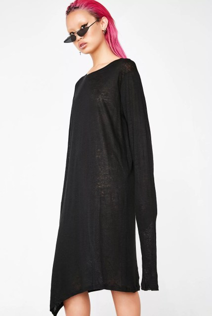 Matter of Black Linen Long Sleeve T-Shirt