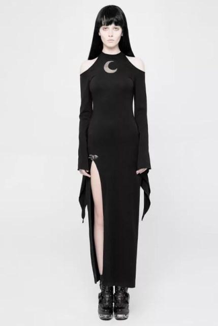 Punk Rave Goth Pixie Sleeve Slit Dress