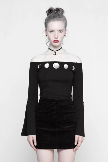Punk Rave Moon Phase Short Top