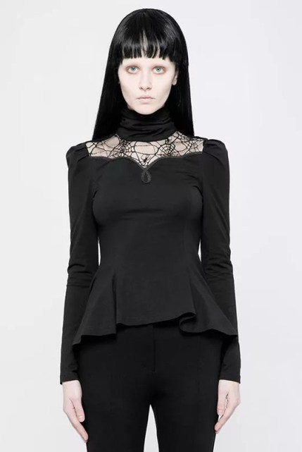 Asymmetric Goth Short Top