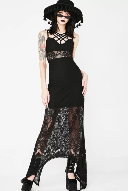 Killstar Deadly Beloved Maxi Dress
