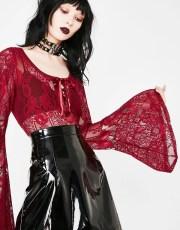 Killstar Bloody Deadly Beloved Bodysuit