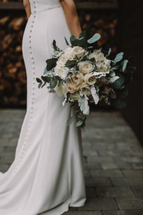 White Green Modern Wedding at Stone House NJ