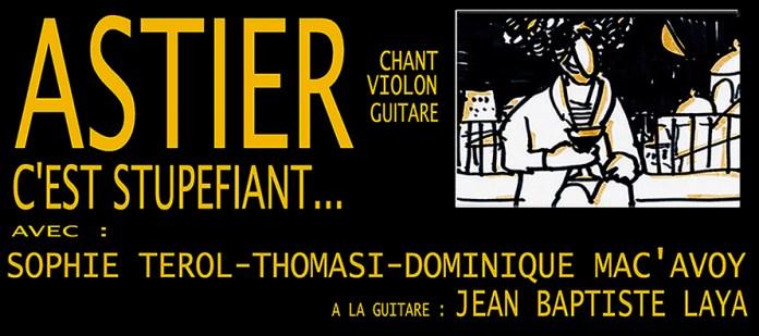 Astier au Forum Léo Ferré le 10 octobre prochain !