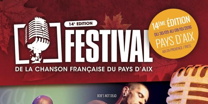 Festival de la Chanson française d'Aix-en-Provence du 30 septembre au 8 octobre