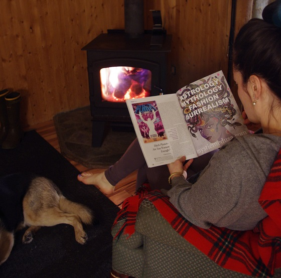 Professional astrologer Elodie Miaow with her copy of Hexagon #2