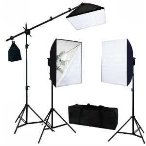 LusanaStudio Three Point Softbox Lighting Kit