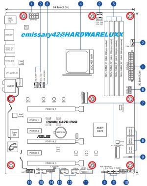 Asus X470 Motherboard manual shared on forum  Mainboard