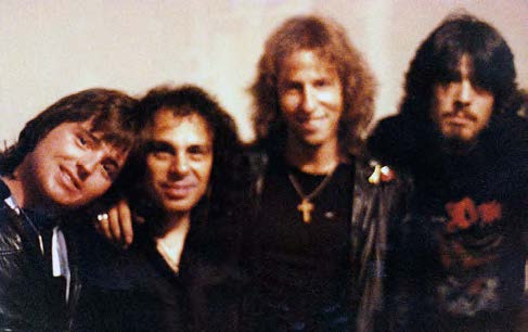Bill and Dan with Ronnie James Dio and John Marshall (Blind Illusion, Metal Church)