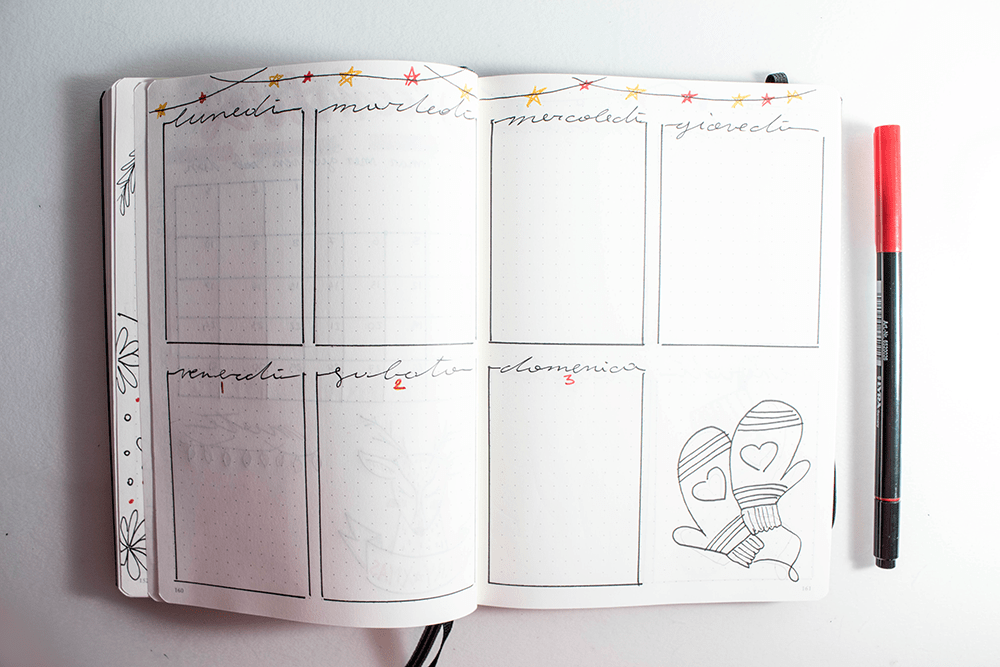 bullet journal weekly