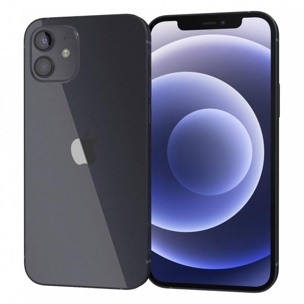 iPhone 12 black dupla angulo