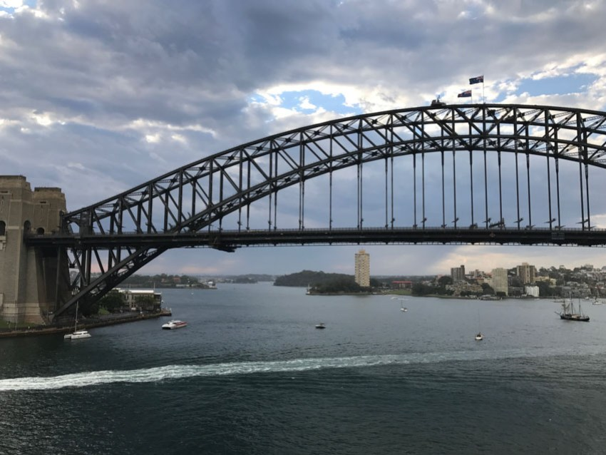 A closer view of the Sydney Harbour Bridge from our room