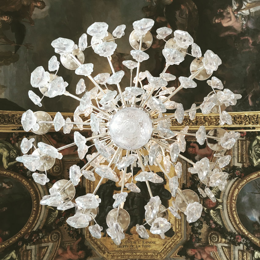 Chandelier (photo taken from underneath) at the Palace of Versailles
