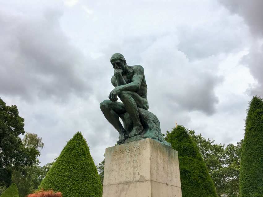 The famous Thinker statue by Rodin