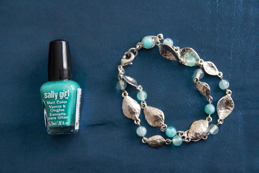 Polish and bracelet