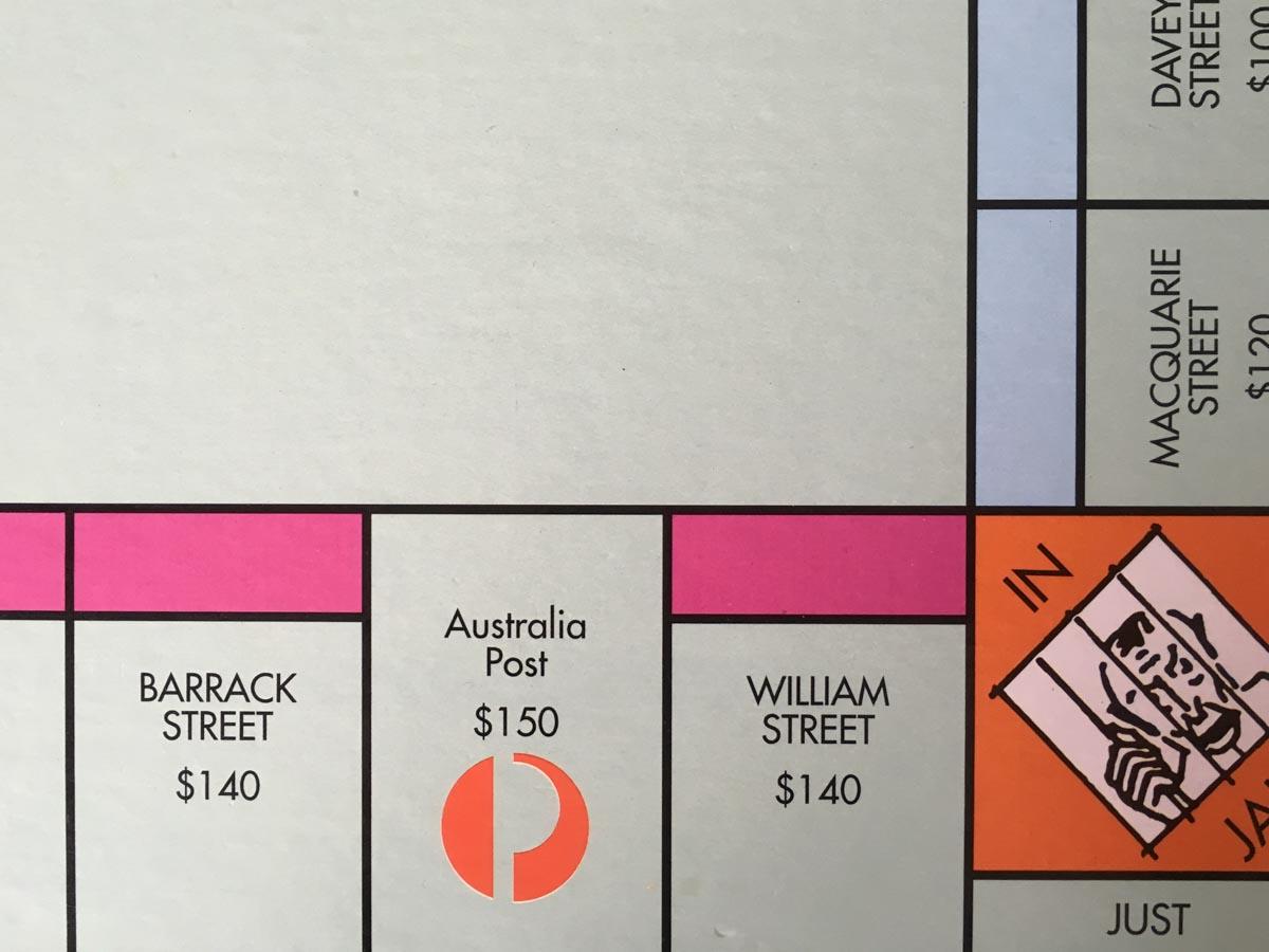 Australia Post is on the Australian version of Monopoly