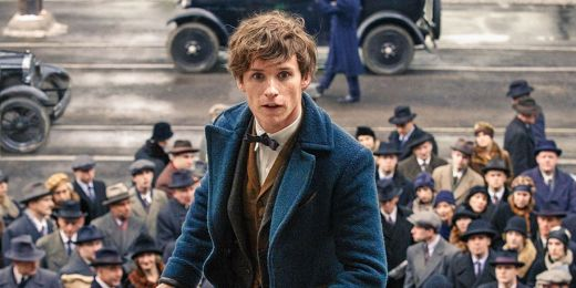 Newt Scamander in a sea of white people